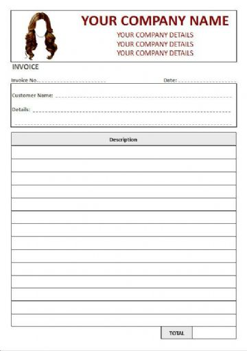 Hairdressers NCR Invoice Pads, 1 Column Lined